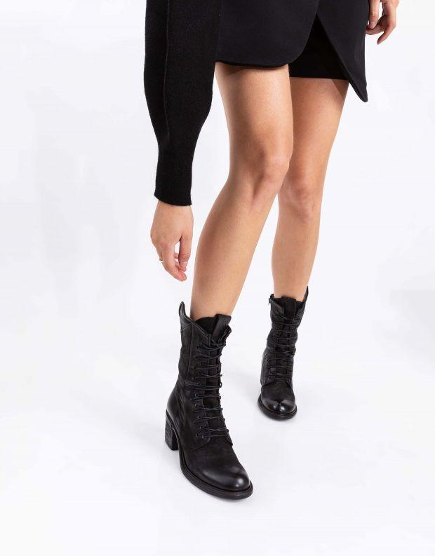 נעלי נשים - A.S. 98 - מגפיים עם שרוכים JAMAL - שחור