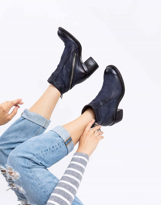 נעלי נשים - A.S. 98 - מגפוני עור JAMAL - כחול