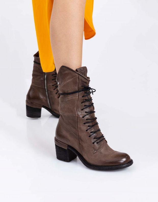 נעלי נשים - A.S. 98 - מגפיים עם שרוכים JAMAL - חום בהיר