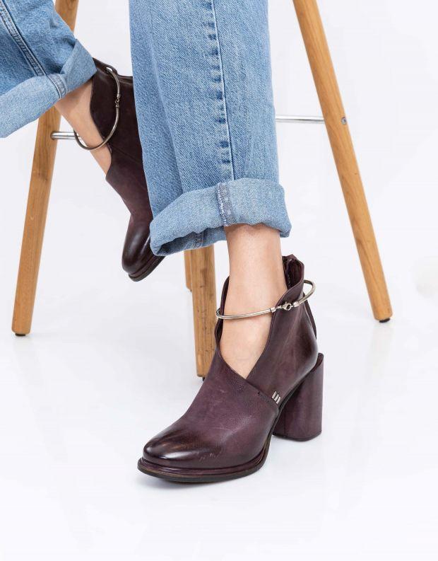 נעלי נשים - A.S. 98 - מגפונים פתוחים SERENITY - חציל