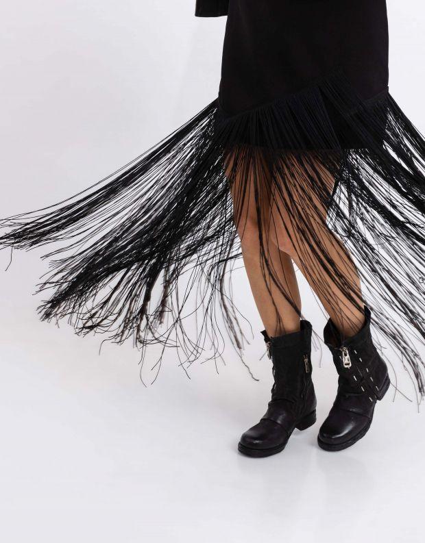 נעלי נשים - A.S. 98 - מגפיים עם סיכות SAINTEC - שחור
