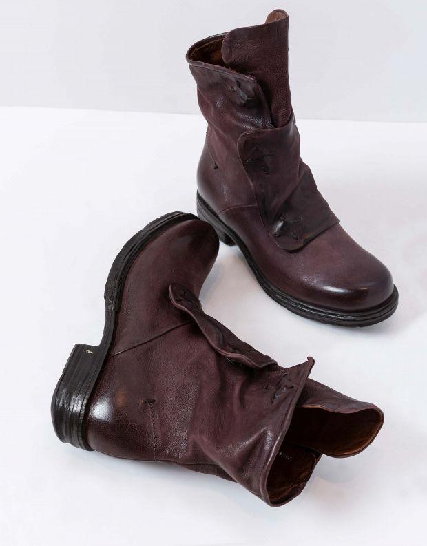 נעלי נשים - A.S. 98 - מגפונים עם תפרים SAINTEC - חציל