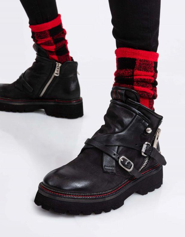 נעלי נשים - A.S. 98 - מגפוני עור NATIVE - שחור