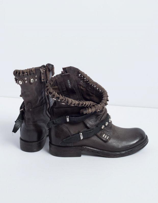 נעלי נשים - A.S. 98 - מגפון VERTI שתי רצועות - אפור