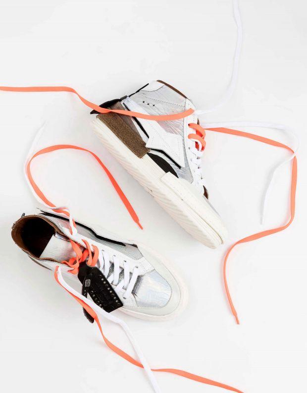 נעלי נשים - A.S. 98 - סניקרס MIND - לבן   כסף