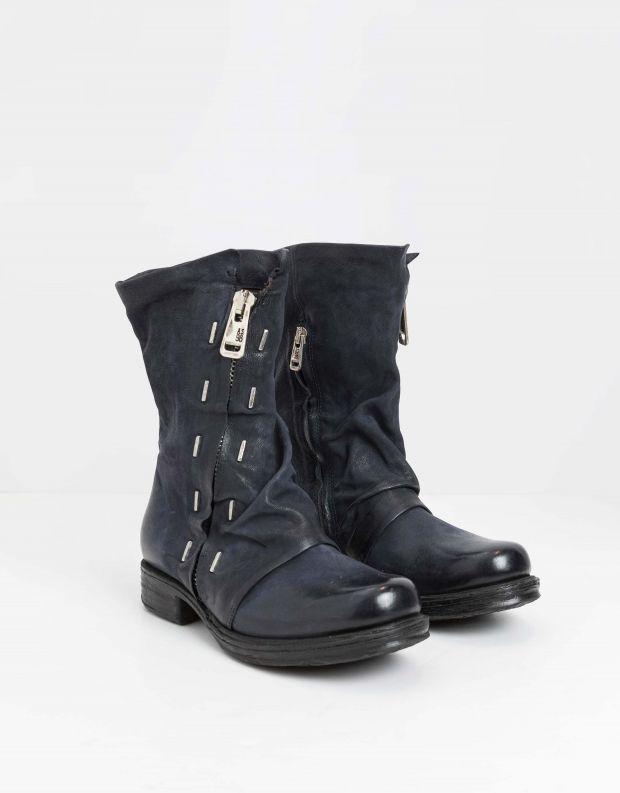 נעלי נשים - A.S. 98 - מגפיים עם סיכות SAINTEC - כחול