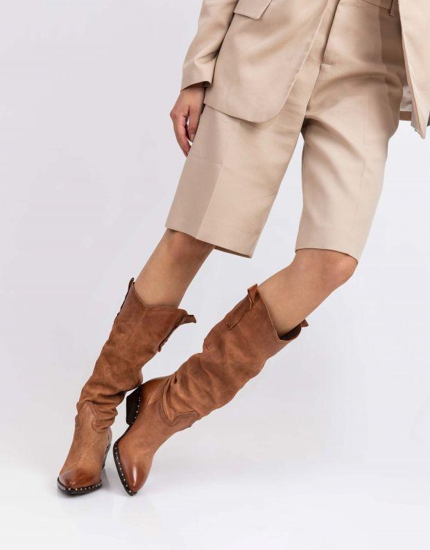 נעלי נשים - A.S. 98 - מגף SATUR - קאמל