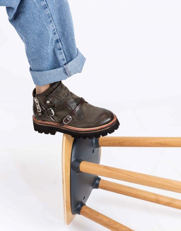 נעלי נשים - A.S. 98 - מגפוני עור NATIVE - ירוק