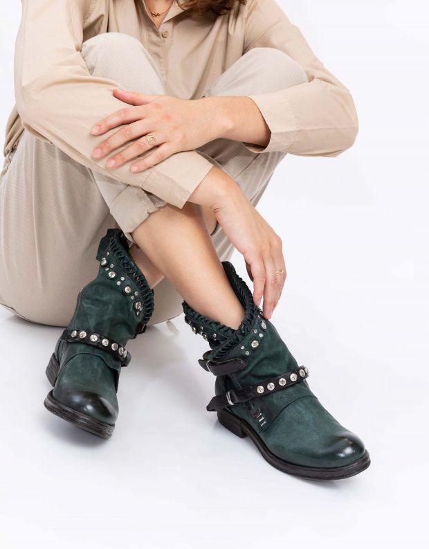 נעלי נשים - A.S. 98 - מגפון VERTI שתי רצועות - ירוק