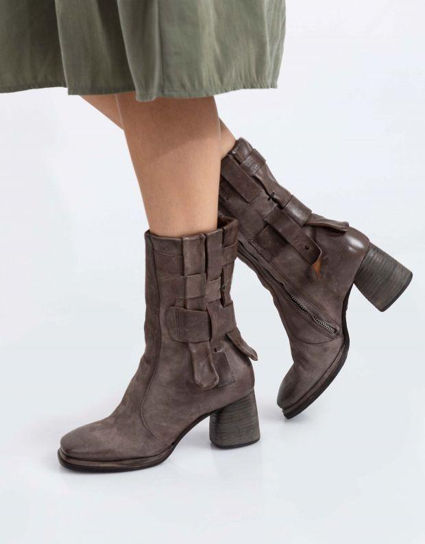 נעלי נשים - A.S. 98 - מגפיים שתי וערב DIZA - אפור