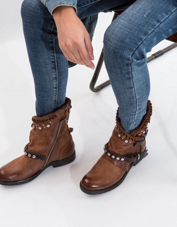 נעלי נשים - A.S. 98 - מגפון VERTI שתי רצועות - חום בהיר