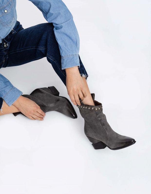 נעלי נשים - A.S. 98 - מגפוני TINGET ניטים - אפור