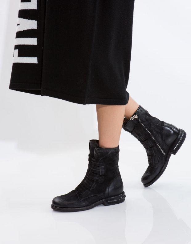 נעלי נשים - A.S. 98 - מגף TEAL רצועות - שחור