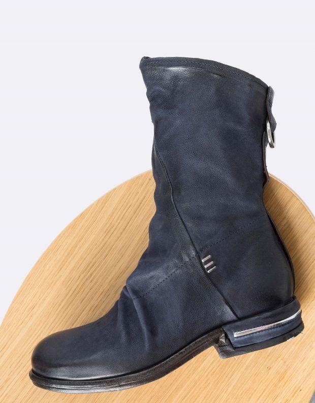 נעלי נשים - A.S. 98 - מגפי עור TEAL - כחול