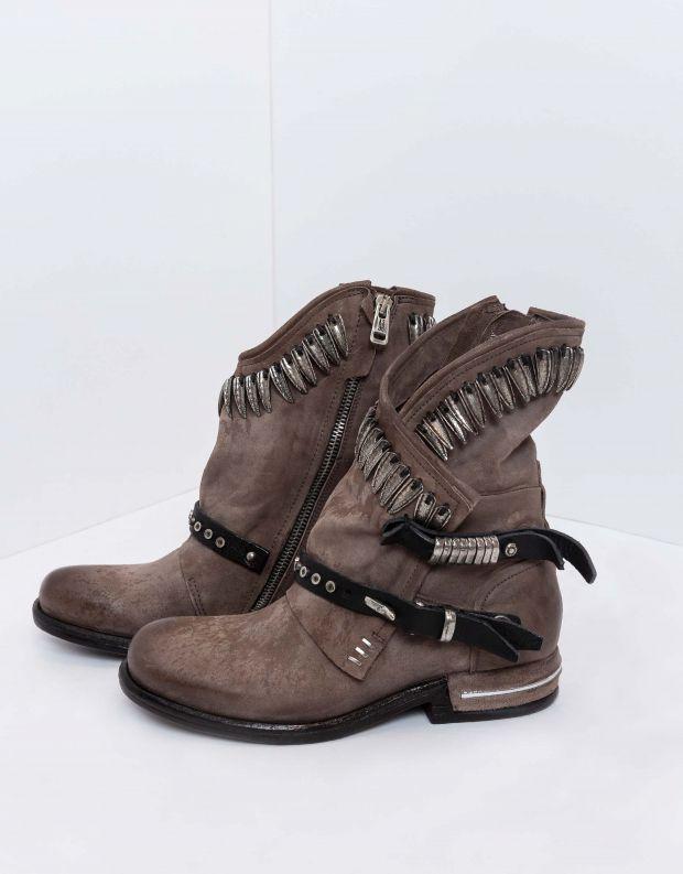 נעלי נשים - A.S. 98 - מגפונים מעטפת נוצות TEAL - חום בהיר