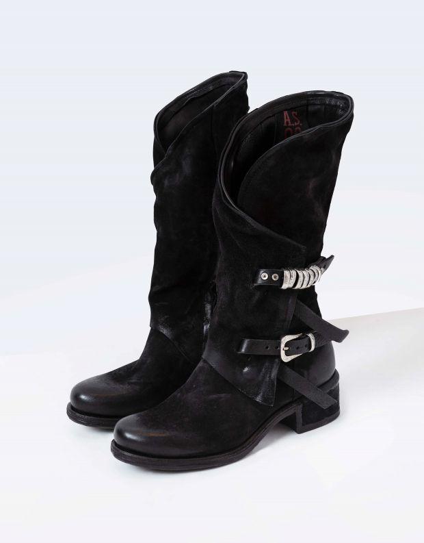 נעלי נשים - A.S. 98 - מגפי מעטפת ISPERIA - שחור