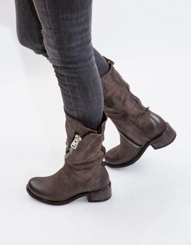 נעלי נשים - A.S. 98 - מגף ISPERIA רוכסן - אפור