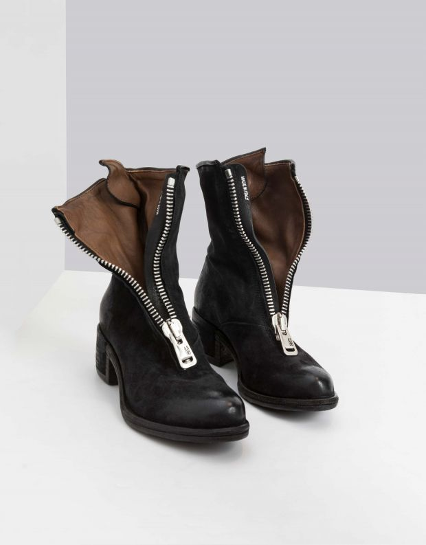 נעלי נשים - A.S. 98 - מגף OPEA רוכסן קדמי - שחור
