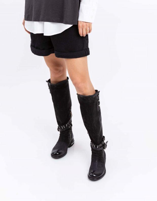 נעלי נשים - A.S. 98 - מגפיים גבוהים TEAL - שחור