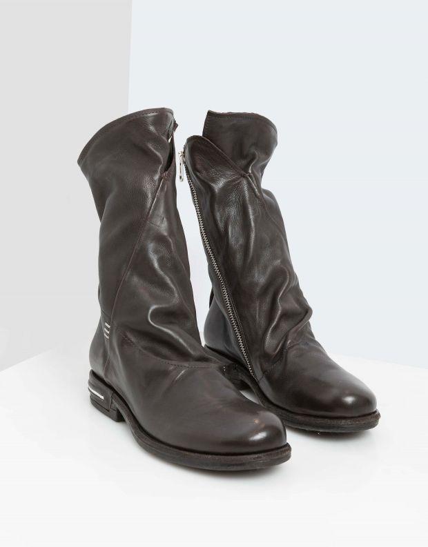 נעלי נשים - A.S. 98 - מגפי עור TEAL - חום כהה