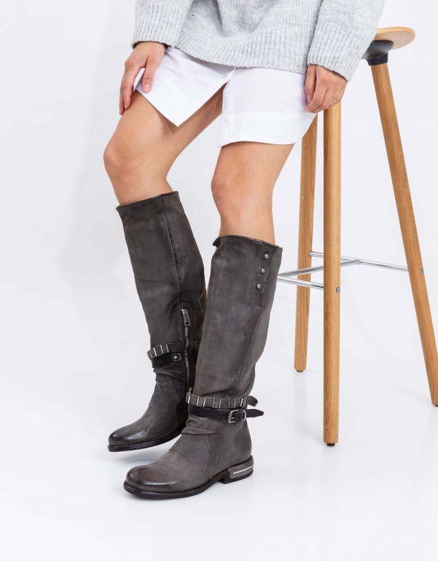 נעלי נשים - A.S. 98 - מגפיים גבוהים TEAL - אפור