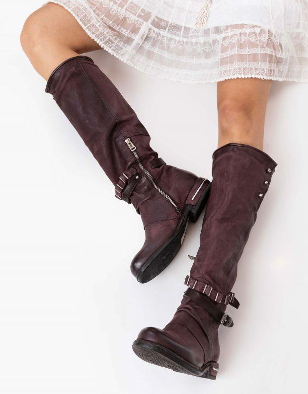 נעלי נשים - A.S. 98 - מגפיים גבוהים TEAL - חציל