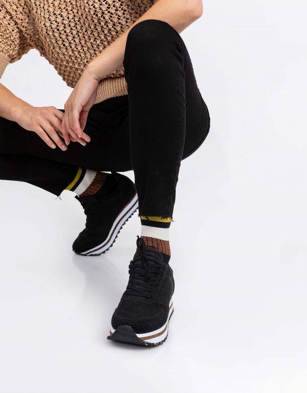 נעלי נשים - Woden - סניקרס YDUN PEARL PLATEU - שחור