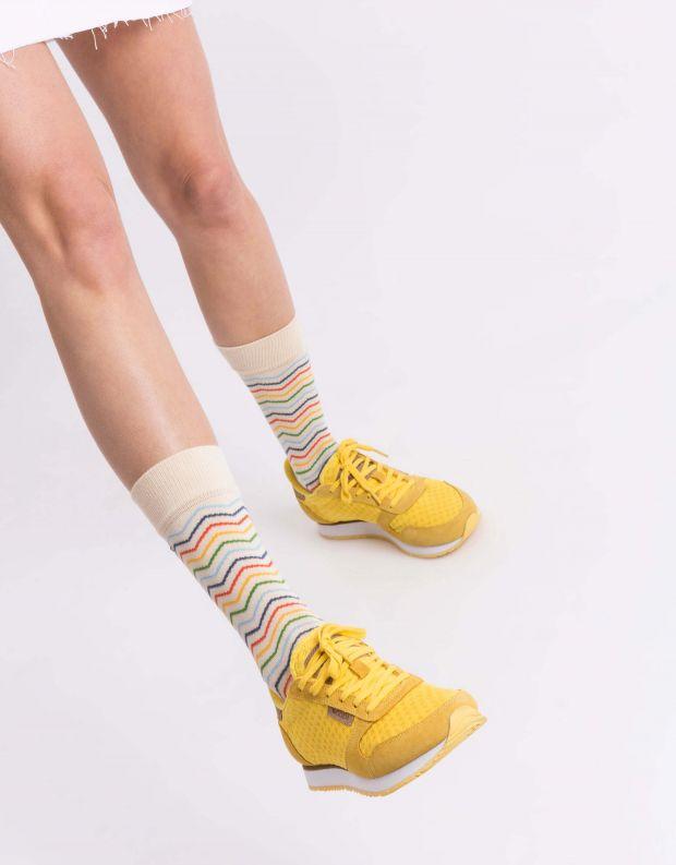 נעלי נשים - Woden - סניקרס YDUN SUEDE MESH - צהוב