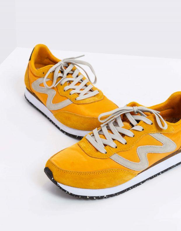 נעלי נשים - Woden - סניקרס OLIVIA - צהוב