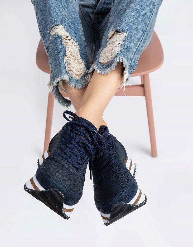 נעלי נשים - Woden - סניקרס YDUN PEARL PLATEU - כחול