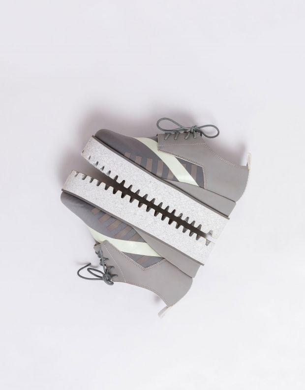 נעלי נשים - United Nude - נעלי פלטפורמה JUKO CALLI - אפור