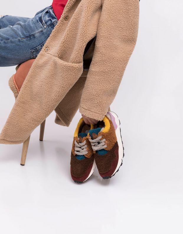 נעלי נשים - Flower Mountain - סניקרס פרווה PAMPAS - בורדו