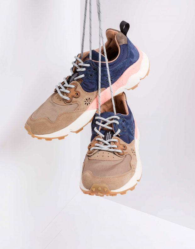 נעלי נשים - Flower Mountain - סניקרס YAMANO 2 - חום   כחול