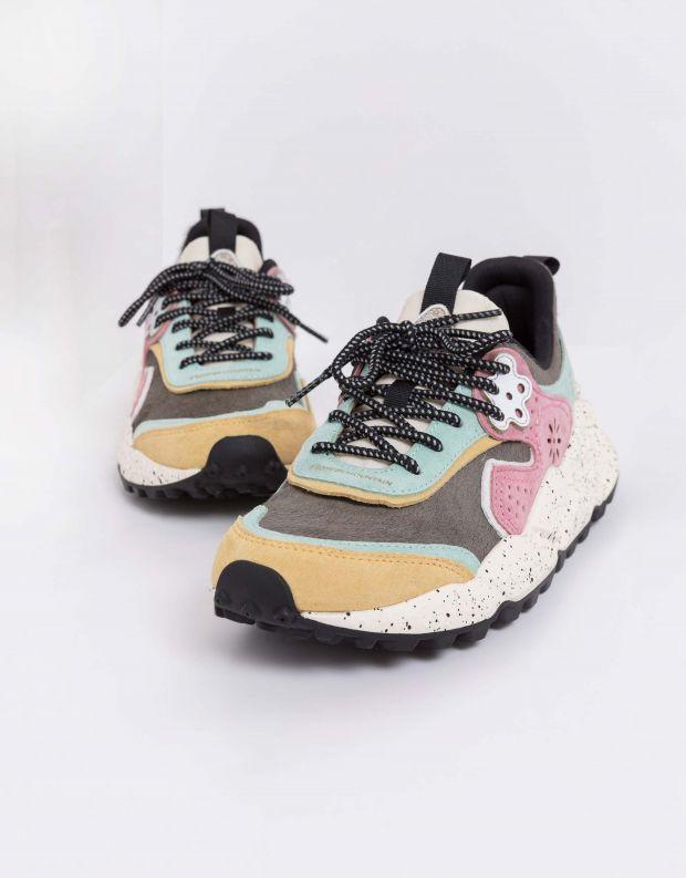 נעלי נשים - Flower Mountain - סניקרס KOTETSU פוני - אפור מנטה