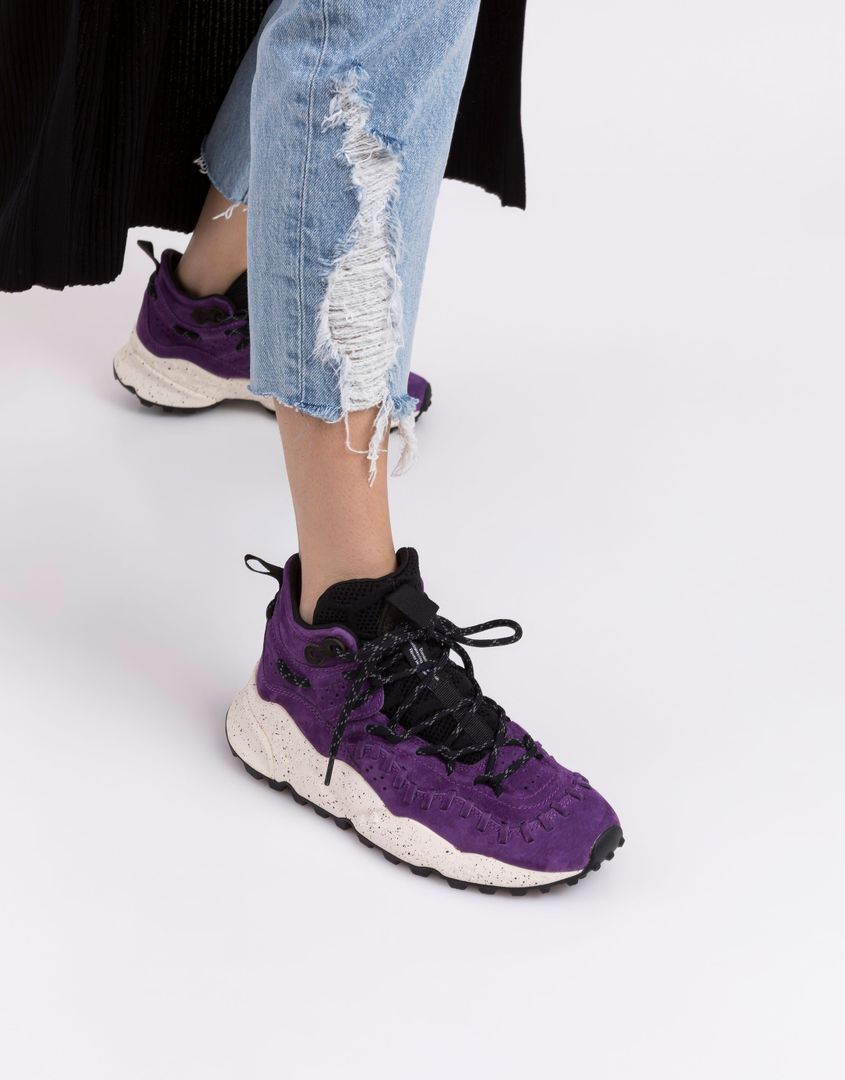 נעלי נשים - Flower Mountain - סניקרס גבוהות MOHICAN - סגול