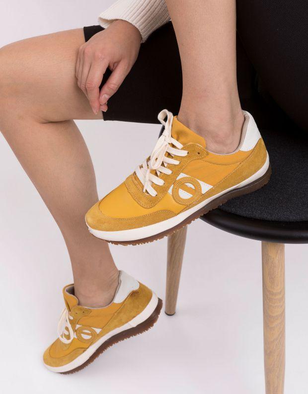 נעלי נשים - Aro - סניקרס עור JAQ - צהוב