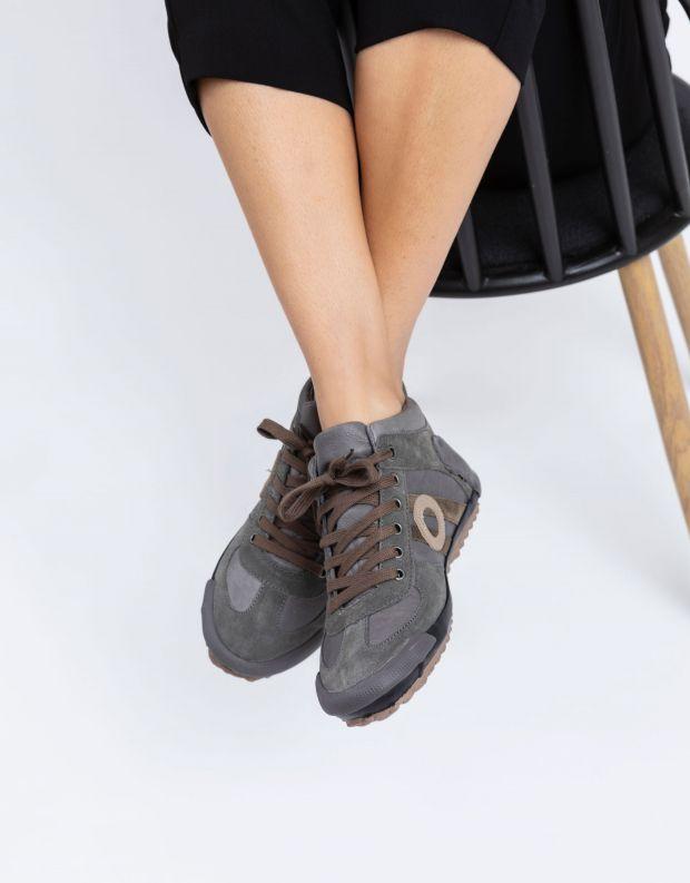 נעלי נשים - Aro - סניקרס גבוה IDO - אפור בהיר