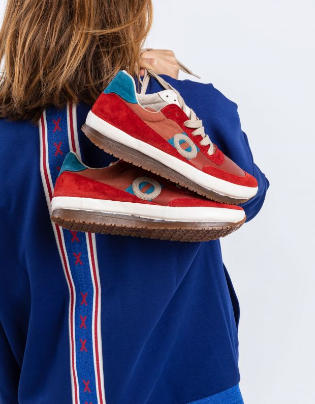 נעלי נשים - Aro - סניקרס עור JAQ - אדום