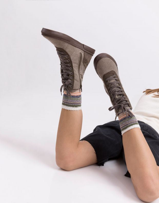 נעלי נשים - Aro - מגפוני EMMA ג'ינס - חום