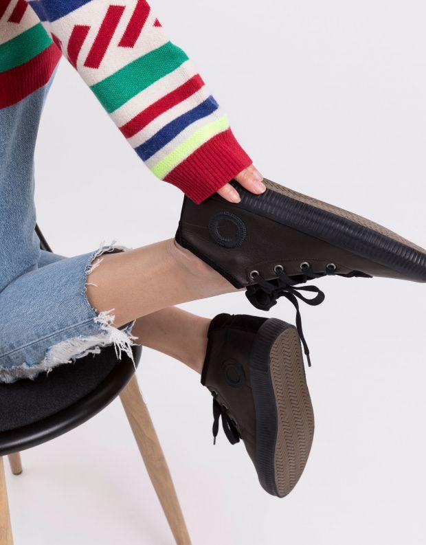 נעלי נשים - Aro - סניקרס עור NOELLE - שחור