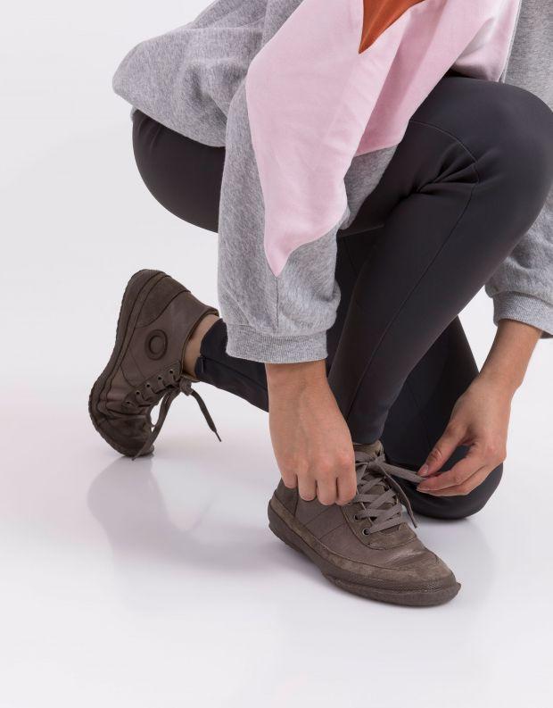 נעלי נשים - Aro - סניקרס עור וזמש WILLY - חום בהיר