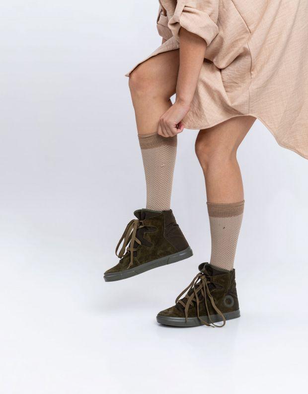 נעלי נשים - Aro - מגפוני קשירה EMMA - זית