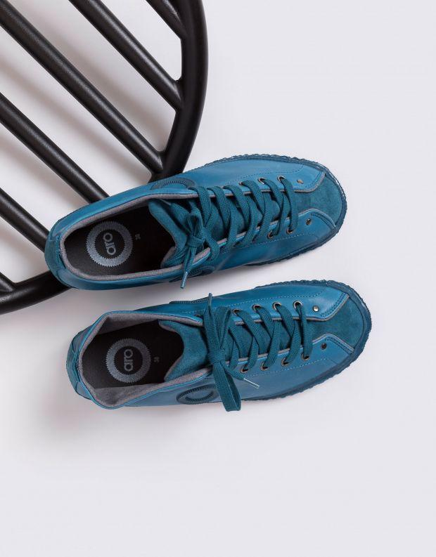 נעלי נשים - Aro - נעלי עור וזמש WILLY - טורקיז