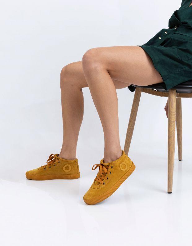 נעלי נשים - Aro - סניקרס זמש NOELLE - צהוב