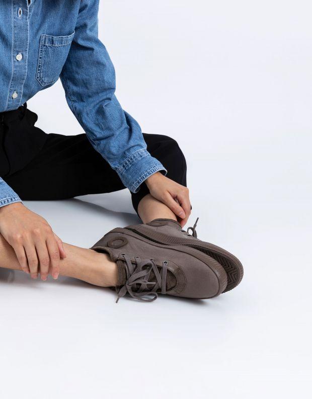 נעלי נשים - Aro - סניקרס עור NOELLE - חום בהיר
