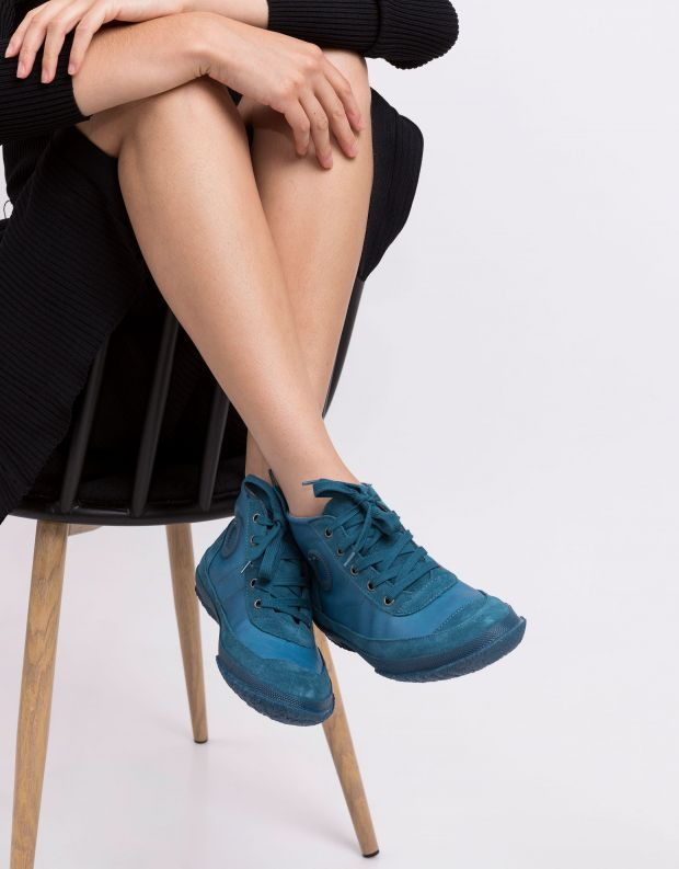 נעלי נשים - Aro - סניקרס עור וזמש WILLY - טורקיז