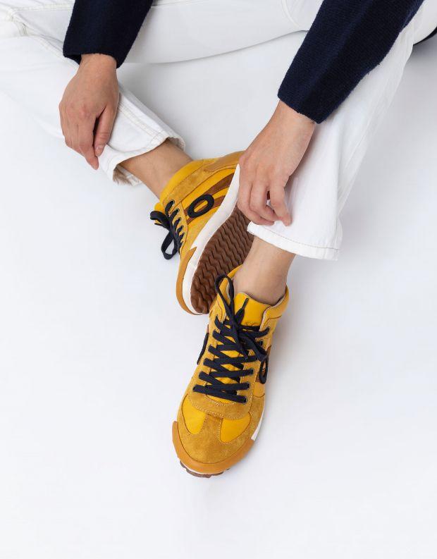 נעלי נשים - Aro - סניקרס גבוה IDO - צהוב
