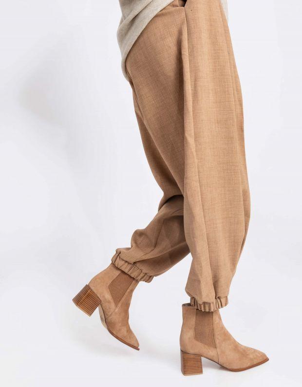 נעלי נשים - SOL SANA - מגפוני צ'לסי ועקב ATTICUS - אפרסק