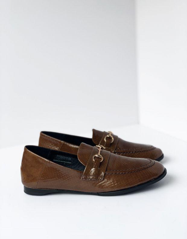 נעלי נשים - Yuko Imanishi - נעלי מוקסינים SACHI - חום בהיר
