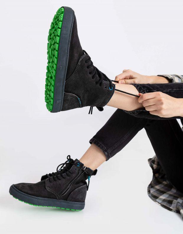 נעלי נשים - Satorisan - מגפוני שרוכים HIDA - אפור כהה